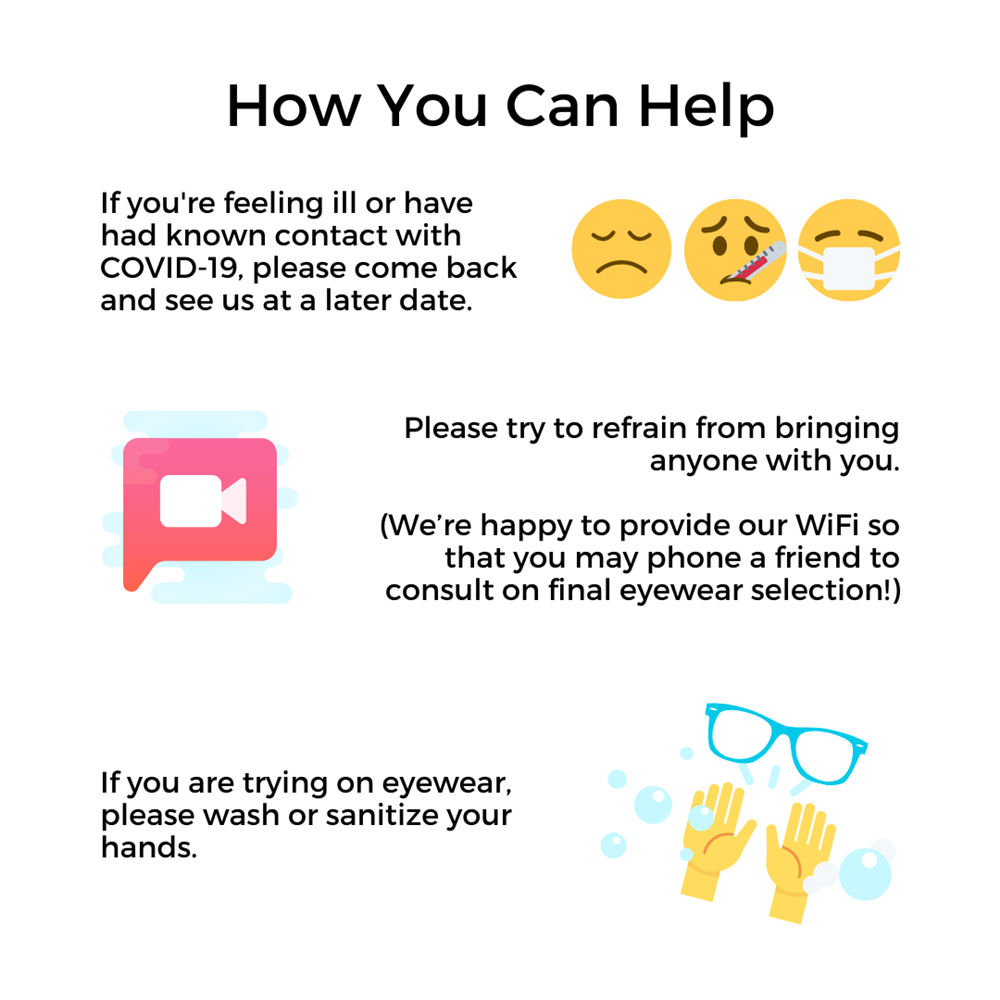 What You Can Do To Help: Stay home if you're feeling ill, try not to bring anyone with you, wash your hands!
